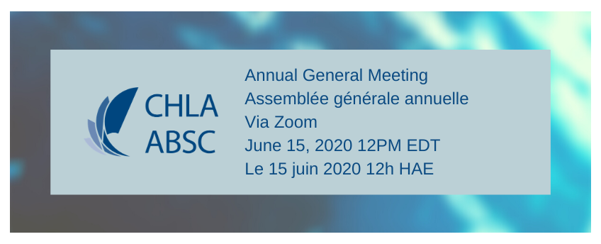 Annual General Meeting June 15, 2020 12pm EDT